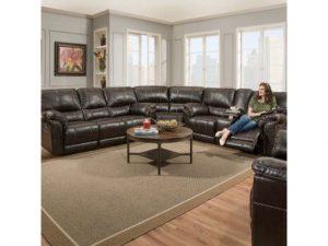 LSSIM50961-BR SIMMONS Recliner Sectional with Cup Holder Reg $2399 Now $1999