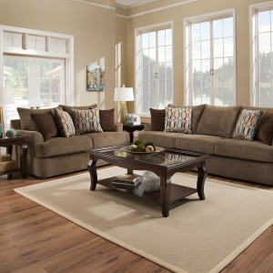 LSSIM8540BR SIMMONS Beautyrest Sofa and Loveseat Reg $1499 Now $1199