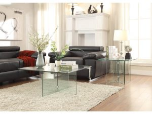 HOM17809 Coffee Table All Glass $219.90