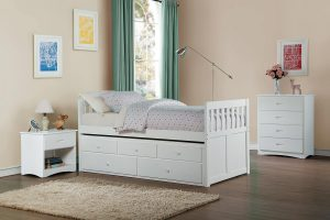 HOM2053PRW Twin Bed With Trundle And Drawers $399.90 Nightstand $139.90 Chest $229.90