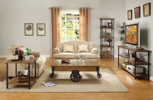 HOM3228-30 Coffee Table With Functional Wheels $389.90 End Table $195.90 Sofa Table $289.90