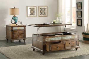 HOM3581-30 Cocktail Table With Lift Top And Drawers $389.90.90 End Table $249.95