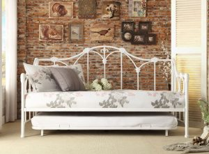 HOM4961DB-NT Twin Metal Day Bed With Trundle Reg $599.90 Now $389.90