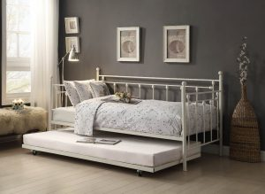 HOM4965W-NT Twin Metal Day Bed With Trundle Reg $589.90 Now $349.90