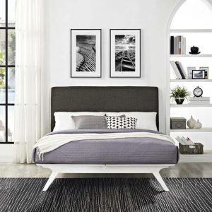 Mod5765whi-brn Queen Bed Frame Reg $659.90 Now $499.90