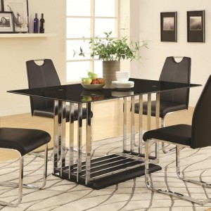 coa105301 with 105302 blk chairs 5pc dining set reg$ 899.90 now $599.90