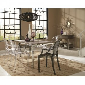 coa121121 5 pc dining set reg$1499.90 now $999.90 available in two colors 900543 clear color and 900544 smoke color