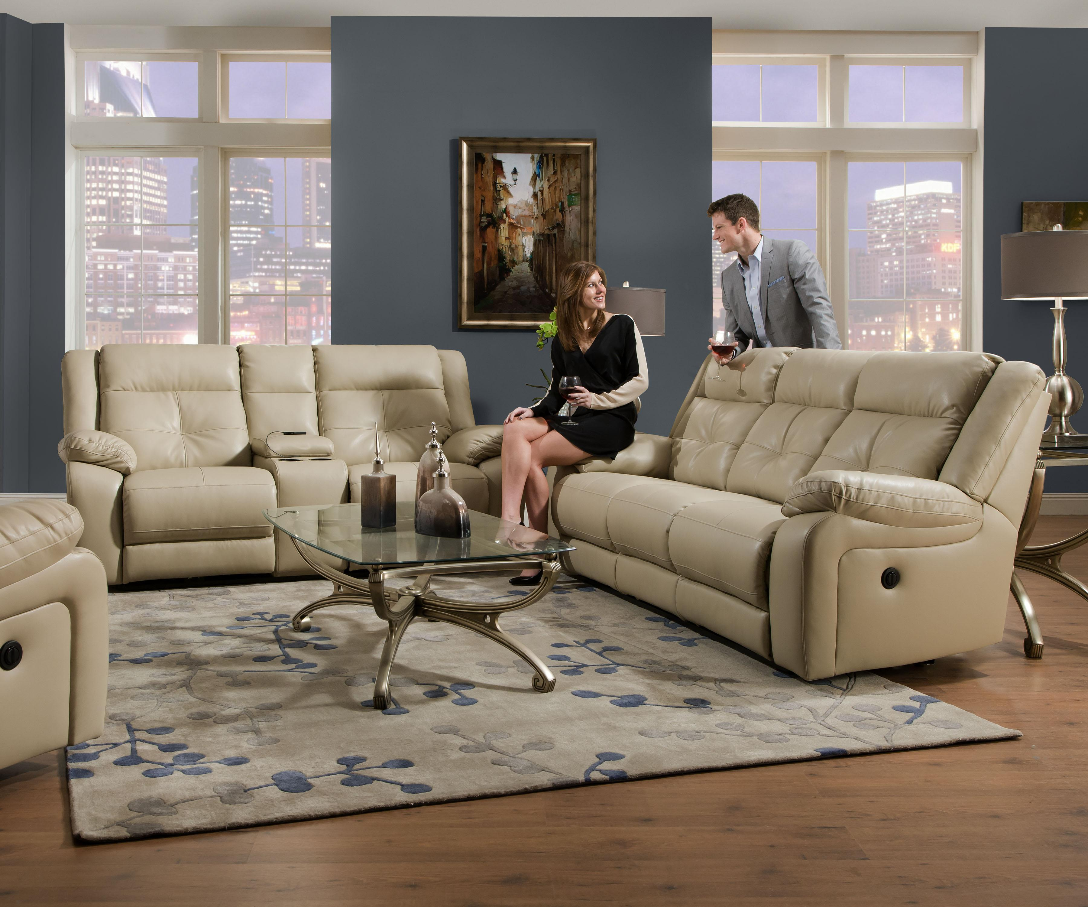 LASIM50590 SIMMONS Beautyrest Sofa And Loveseat Recliners Reg $1999 Now  $1499 Recliner Chair $399