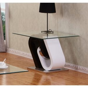 BESct508 Glass And Lacquer End Table Reg $229.90 Now $169.90