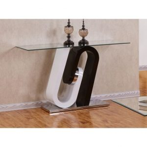 BESct509 Glass And Lacquer Console Table Reg $359.90 Now $289.90