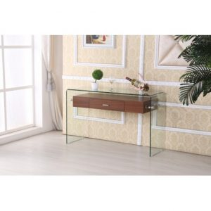 BESct97 Glass Console Table Reg $399.90 Now $249.90