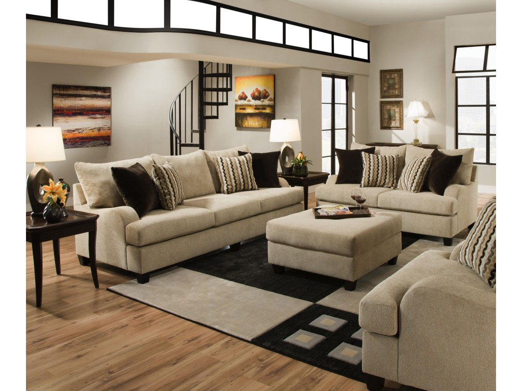 LASIM8520 SIMMONS Beautyrest Sofa And Loveseat Reg $1699 Now $1299