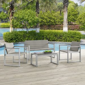 MOD2261slvchc 4 pc Outdoor Patio Set Reg $899.90 Now $649.90