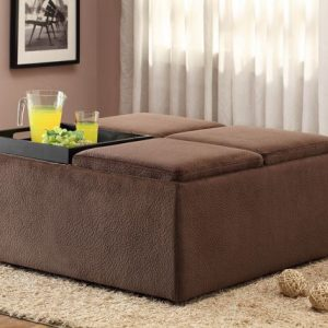 HOM468CP Cocktail Ottoman With Caster Reg $399.90 Now $305.90
